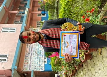 Saugat Acharya WINNER of Inter School Oratory Competition organized by JRC Adikabi