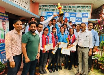 Aroma Awarded with SCHOOL OF THE SERIES in District Level Inter School Competition - Scholastic Meet-2019